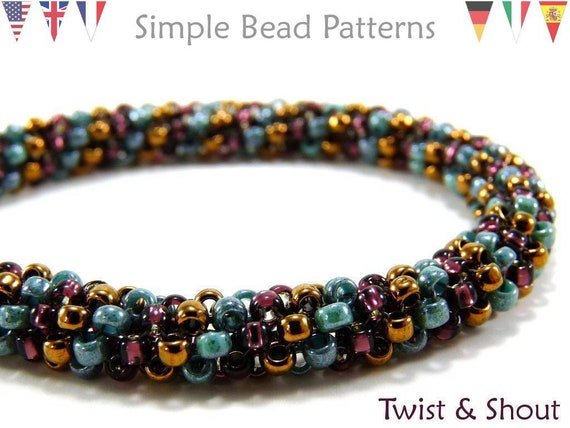Easy Beginner Beading Patterns Tubular Peyote Jewelry Making Etsy Beauteous Seed Bead Patterns