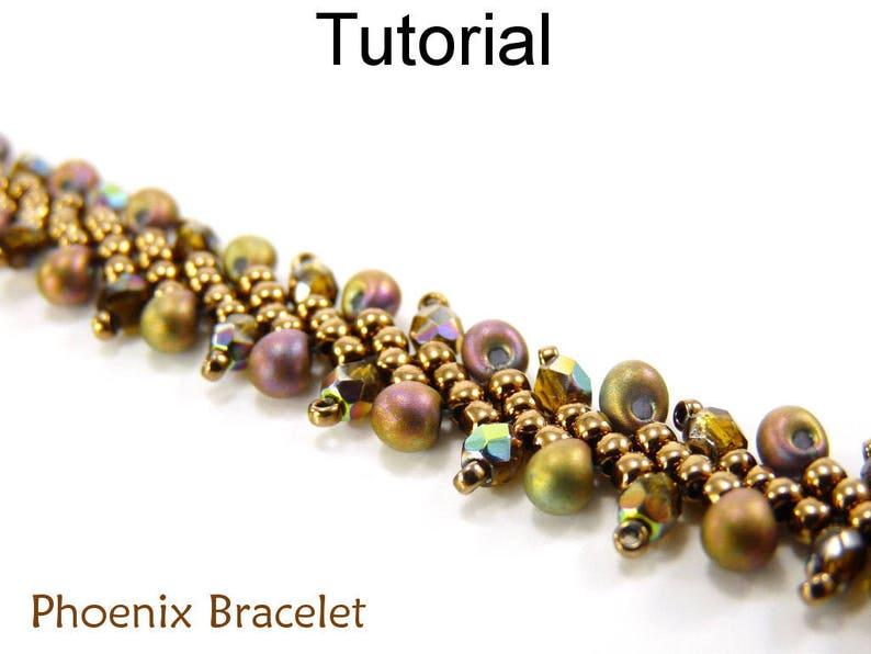 Beading Patterns and Tutorials - Jewelry Making - Beaded Bracelets - St   Petersburg Stitch - Simple Bead Patterns - Phoenix Bracelet #3321