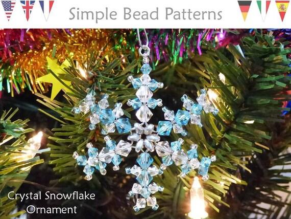 Crystal Snowflake Christmas Tree Decoration making kit with Swarovski Crystals