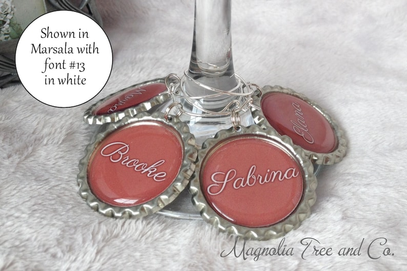 ONE WINE CHARM Personalized Wine Charms Bachelorette Party image 0