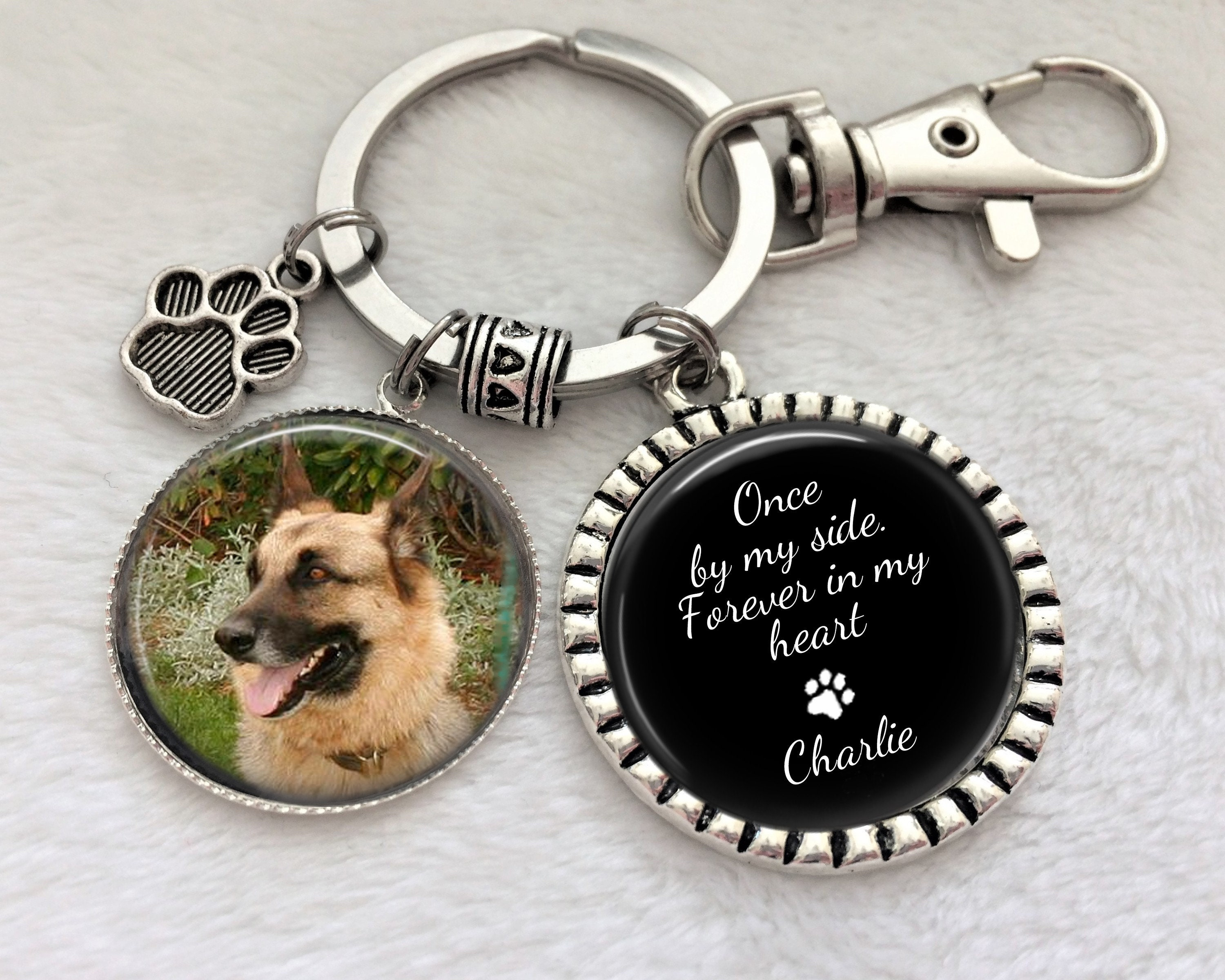 Furry Friends. Mans Best Friend Mourning and Grieving Loss of Pet In Memory of a Cat Key Chain Pet Memorial Remembrance of your Cat