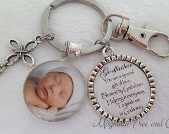 GODFATHER or GODMOTHER, Personalized Gift Godparents, Christening gift, Baptismal Gift, Godparents, Keychain, Necklace, A Special Gift, M14