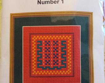 STITCH LIKE MUMMY is a 6 ct Binka  cross stitch kit aimed at Children between 4yrs and 6yrs