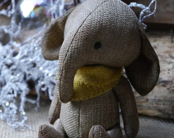 Made to order/OOAK Artist Teddy Elephant Bozoo // 6 inches tall