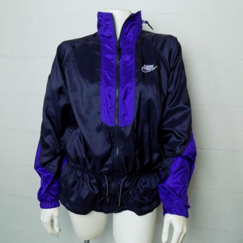 e2a4bf0b0 Ladies Vintage 90's Nike Navy Blue & Purple Jacket Size L | Etsy