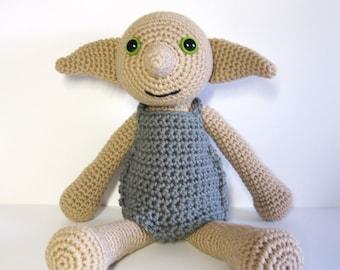 Dobby the House Elf inspired amigurumi. Handmade crochet doll. Dobby doll