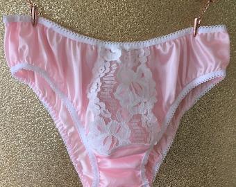 19c252d63d65 vintage style sheer nylon tricot lace panties sissy burlesque