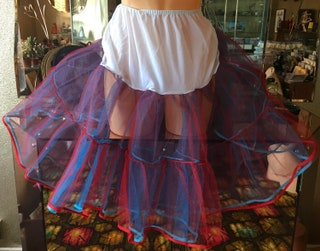 Starched tulle and nylon petticoat vintage reenactment Sissy burlesque