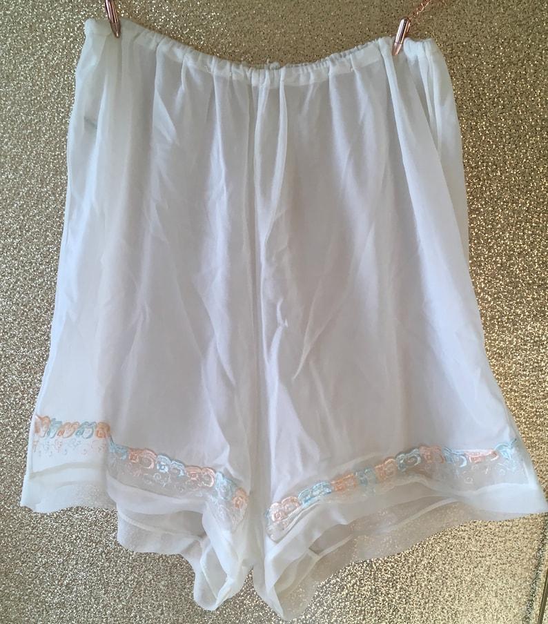 White nylon  tap panties vintage 50/'s sissy burlesque