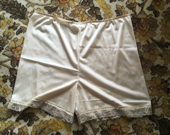 vintage style  nylon tricot lace knickers panties rockabilly burlesque open closed crotch