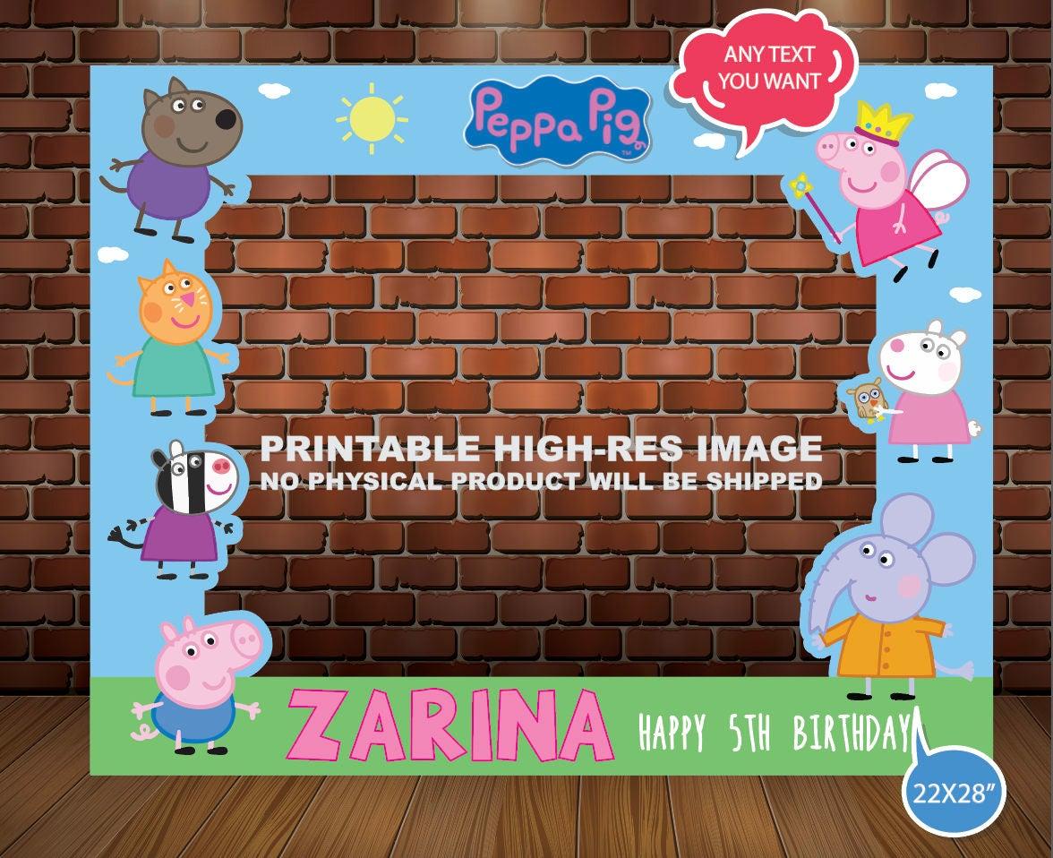 PEPPA PIG PHOTOBOOTH Frame Photo Booht Peppa Pig Photo | Etsy