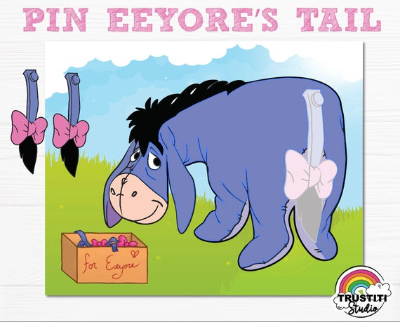 EEYORE PIN The TAIL Game Winnie Pooh PhotoBooth Prop