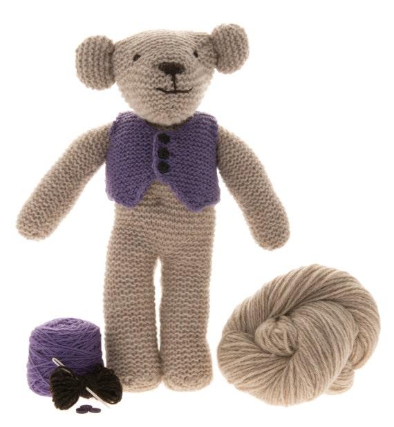 Teddybär-Kit mit 100 % walisischen Wolle stricken | Etsy