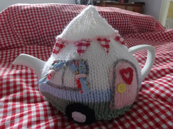 Caravan Tea Cosy Cozy Knitting Pattern Pdf Camping Retro Etsy