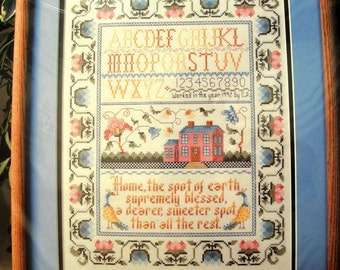 Vintage Bucilla Counted Cross Stitch Sampler Kit NIP No Place Like Home 40671