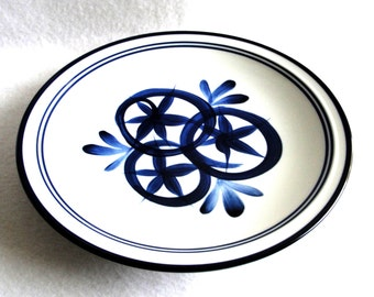 "Vintage Dansk Large Blue White Serving or Display Plate 12""Niels Refsgaard Design"