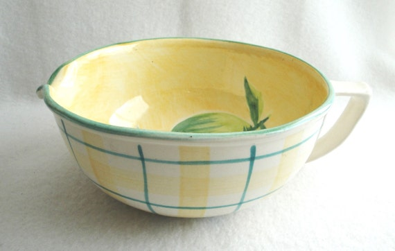 Vintage Laurie Gates Los Angeles Pottery Mixing Batter Bowl Etsy