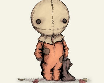 Trick R Treat Sam Plush Fine Art Print