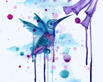 Hummingbird Skeleton 2.0 Fine Art Print