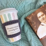 Coffee cozy. St Thérèse of Lisieux quote. Catholic gifts for women. The world is thy ship. Therese coffee sleeve. Theresa the Little Flower.