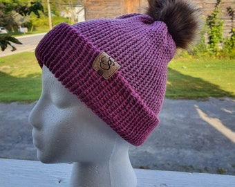 Slouchie Beanie Hat, Shades of Pink Tuque