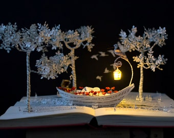 Into the Mystic - Book Sculpture - Book Art - Altered Book