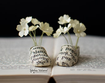Flowers in my Shoes - Miniature Paper Art