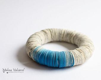 Paper Bracelet - Book Art Bracelet - Paper Art - Statement Bracelet