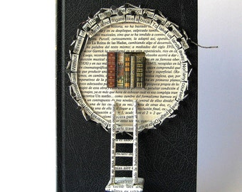 A Book - by Emily Dickinson - Book Paper Art Sculpture - Altered Book -