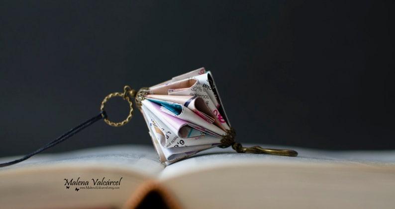 Paper Jewelry  Paper Art  Origami miniature Book image 0