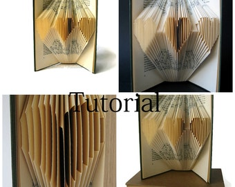 DIY Tutorial for Folded Book Art - Folded Heart - Instant Download