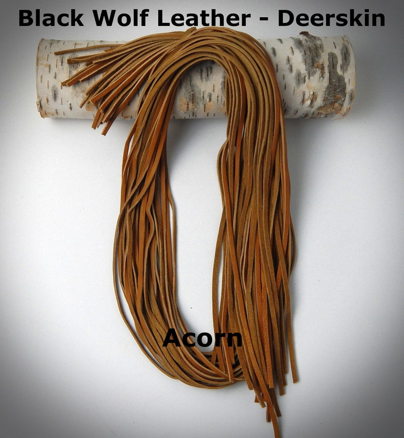 """8 Colors to choose from Deerskin Leather Lacing Cord 1//8/"""""""