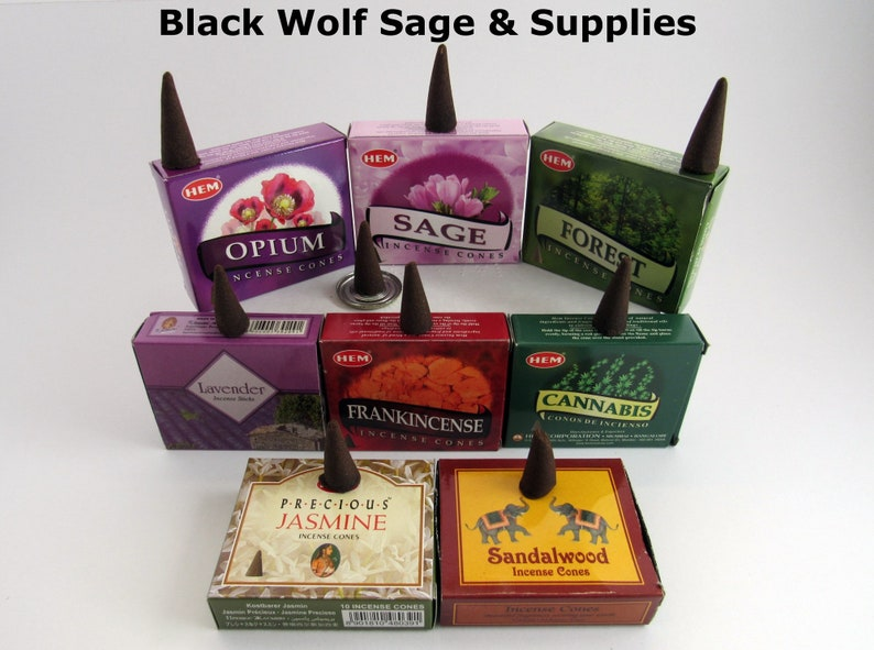 Jasmine Precious Wholesale Incense Cones - 10, 20, 30, 40, 50  Meditation  Incense  Relaxation, Aromatherapy