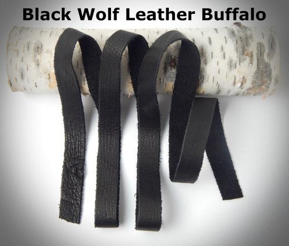 "2 Pack 1/"" x 36/"" Genuine Leather Straps 5oz Premium Cowhide Dark Brown"