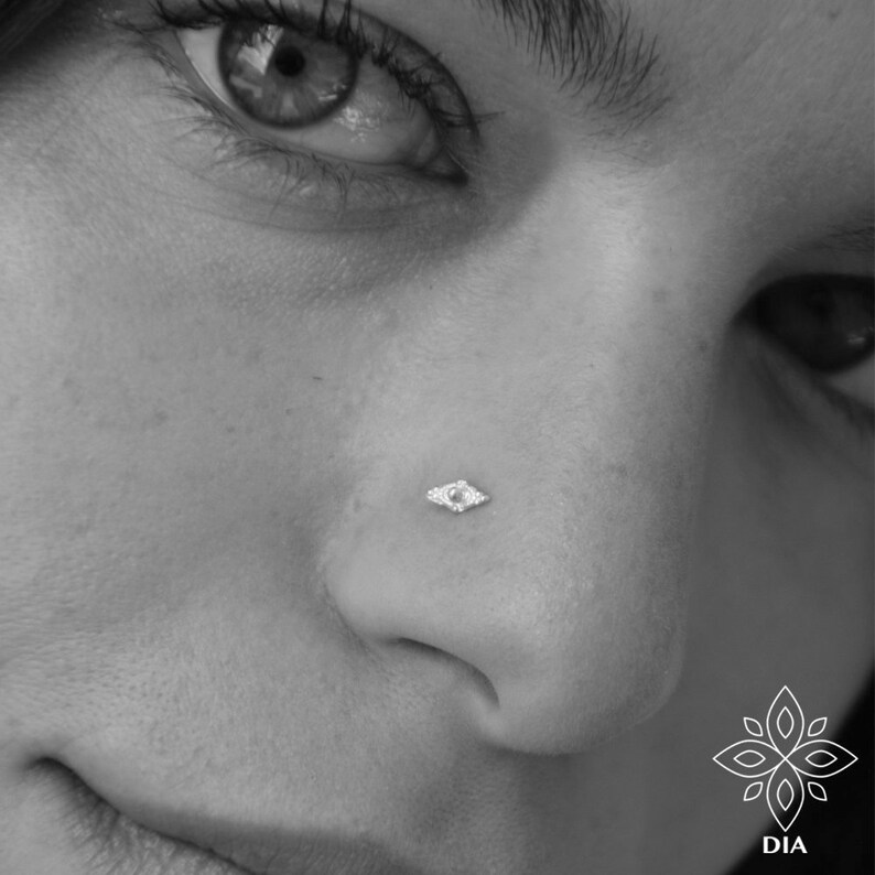 Helix stud Silver tragus Nose earring Silver Nose Piercing Filigree Nose Stud Filigree nose stud Tribal Nose Stud Tiny Nose Stud