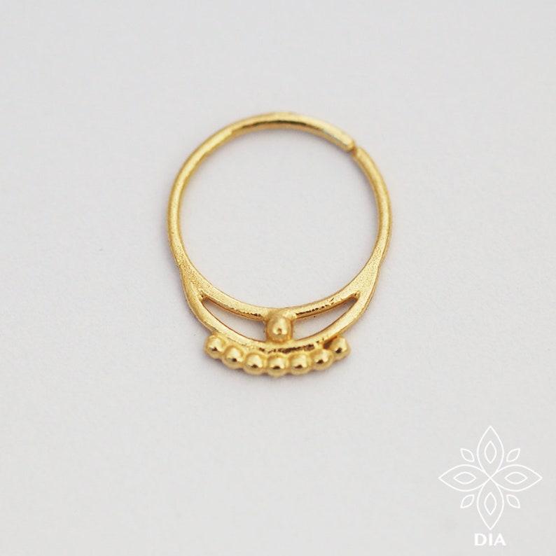 Septum ring Solid gold septum Septum piercing Gold image 0