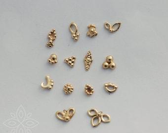 14k gold nose stud, Solid gold stud, 14k gold nose ring, 14k tiny Indian nose stud, Tiny gold nose stud, Nose stud gold, Nose ring stud