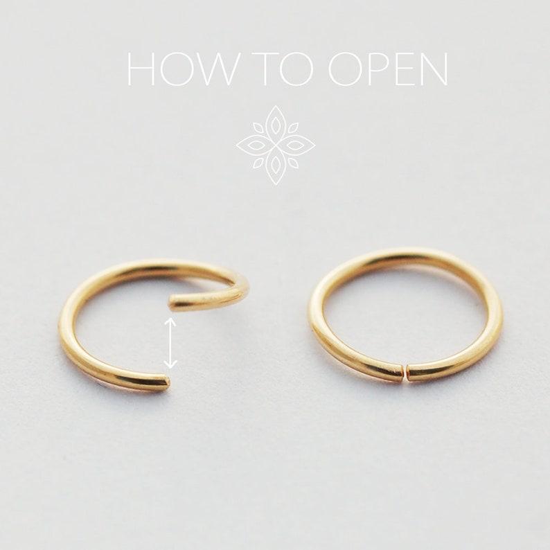 Septum Jewelry Septum Ring Drop Septum Jewelry Septum Hoop Gold Septum Hoop Gold Septum Adornment Dainty Septum Ring 14k solid gold