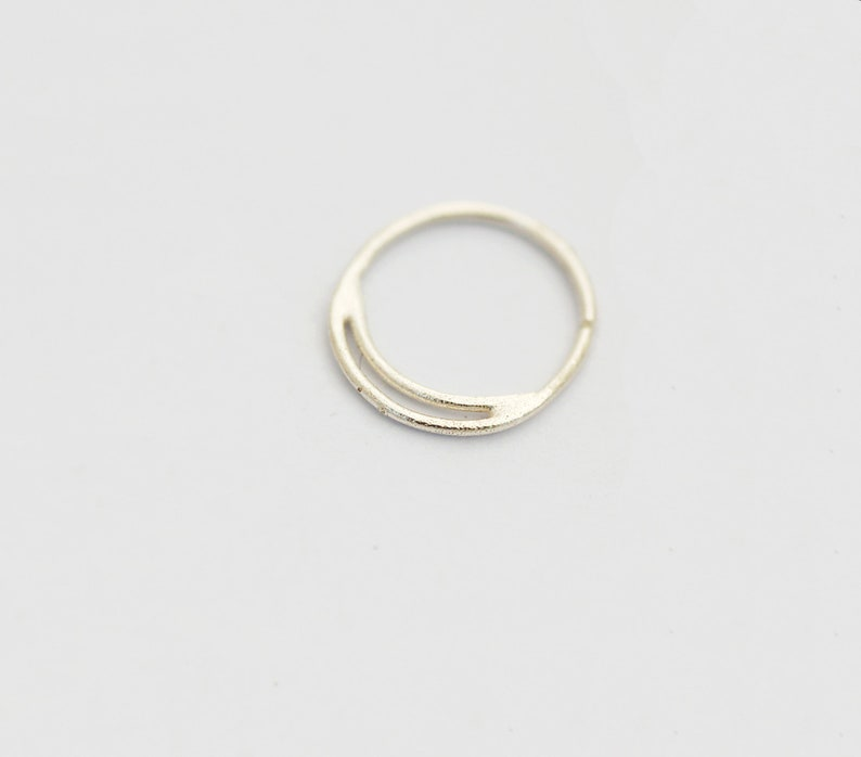 Nose Piercing Boho Nose Ring Septum Ring Small Nose Hoop Cartilage Nose Jewelry Silver Nose Ring Moon Nose Ring Hoop Silver Nose Ring