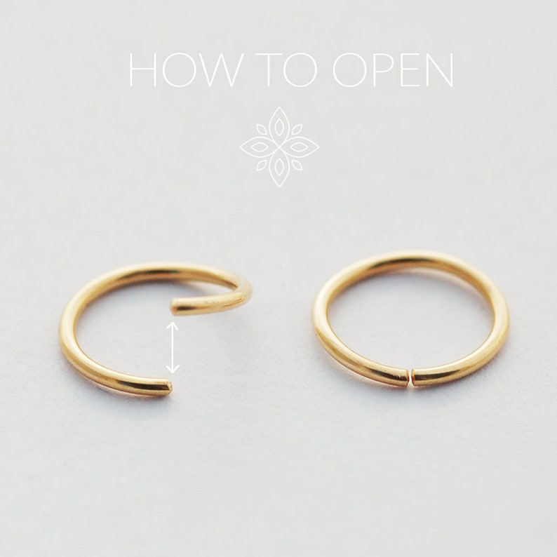 Nose ring Gold septum Nostril ring 14k SOLID GOLD Septum earring Helix Half moon nose ring Septum ring Solid Gold Nose jewelry