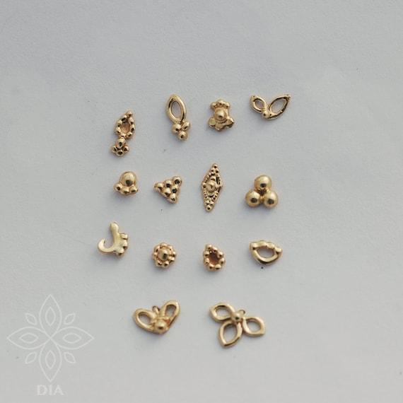 14k Gold Nose Stud Solid Gold Stud 14k Gold Nose Ring 14k Etsy