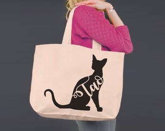 fb509d01ce Siamese Cat | Tote Bag | Canvas Tote Bag | Beach Tote | Canvas Tote |  Shopping Tote | Shopping Bag | Cat Lover Gift | Gift Ideas