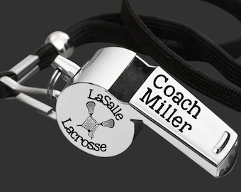 lacrosse coach coach whistle coach gift gift for coach coach appreciation personalized whistle engraved whistle gift ideas