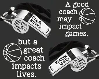 Coach Whistle | Coach Gift | Gift for Coach | Coach Appreciation | Appreciation Gift | Engraved Coach Whistle | Korena Loves