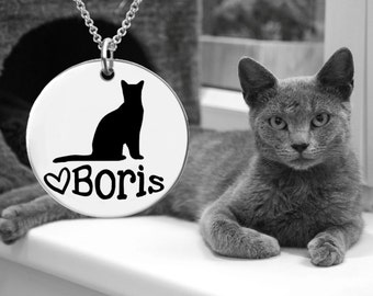 Russian Blue Cat | Cat Pendant | Cat Lover | Cat Jewelry | Cat Necklace | Cat Gift | Korena Loves