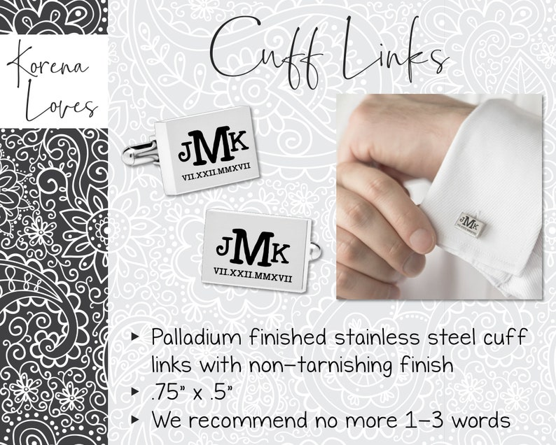 Gift Ideas Personalized Cuff Links Husband Gift Anniversary Gift for Husband Groom Gift Wedding Gift for Groom I Am My Beloved/'s