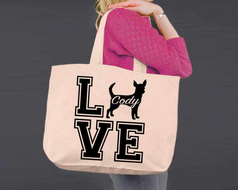 Shopping Tote Dog Tote Chihuahua Gift Ideas Canvas Tote Bag Canvas Tote Tote Bag Shopping Bag