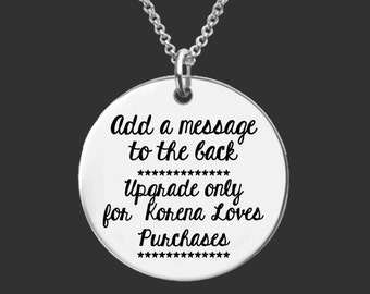 Add Text to Back Upgrade | Korena Loves