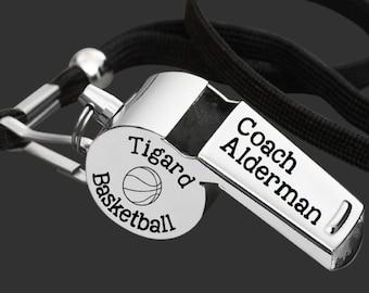 Coach Whistle   Coach Gift   Gift for Coach   Coach Appreciation   Appreciation Gift   Engraved Coach Whistle   Korena Loves   Korena Loves