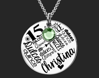 Quinceanera Gift | Quinceanera Necklace | Quinceanera Jewelry | Sweet Fifteen Gifts | Personalized Gifts | Korena Loves
